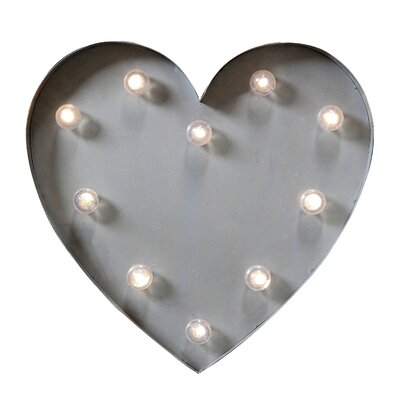 Bright Heart Marquee Sign