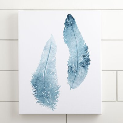 Feather Duo Watercolor Canvas II