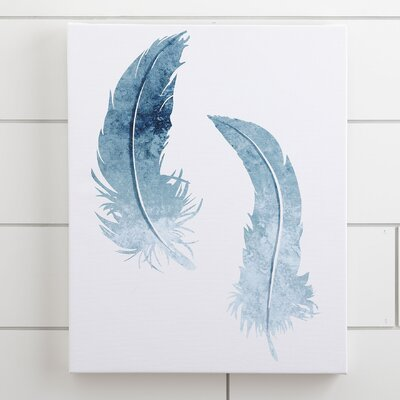 Feather Duo Watercolor Canvas I
