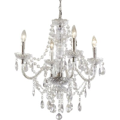Ice Palace 4-Light Crystal Chandelier