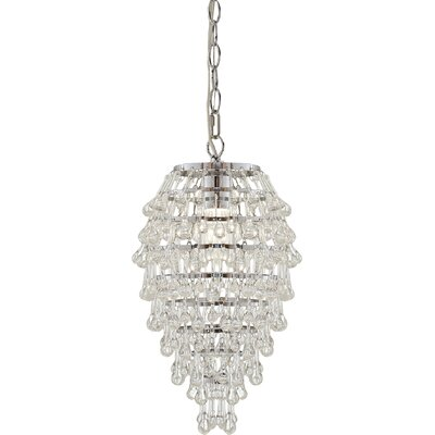 Sophia Teardrop 1-Light Crystal Pendant Crystal Color: Black