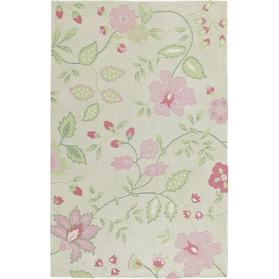 Trailing Vines Pink Rug Rug Size: Rectangle 76 x 96
