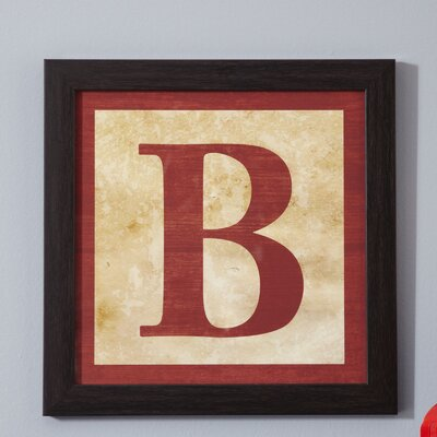 B' Alphabet Blocks Framed Print