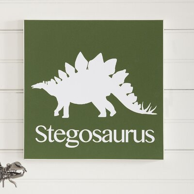 Birch Lane Kids Stegosaurus Prehistoric Pals Wall Art