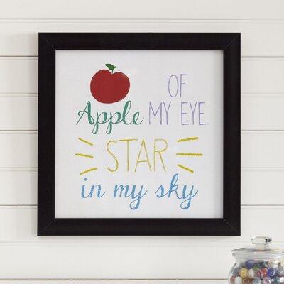 Birch Lane Kids Apple of My Eye Framed Print