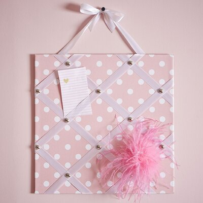 Birch Lane Kids Dotted Get the Memo Board Color: Pink