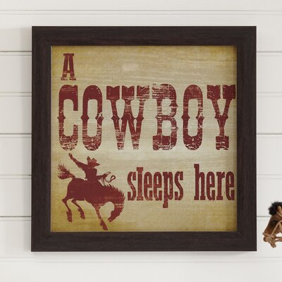 Cowboy Dreams Framed Print BLK1651 26887328