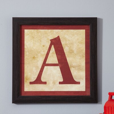 A' Alphabet Blocks Framed Print