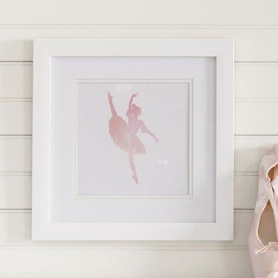 Ballerina Silhouette Framed Print