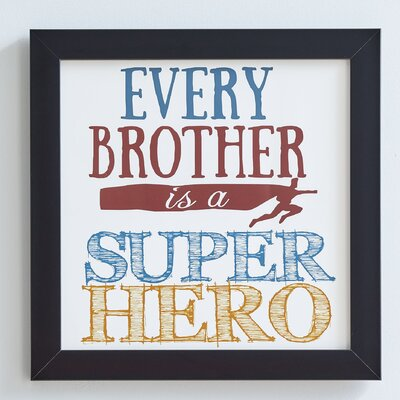 Super Brother Framed Print BLK1644 26887321