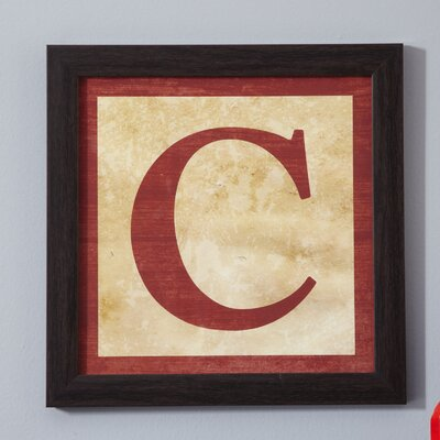 C' Alphabet Blocks Framed Print