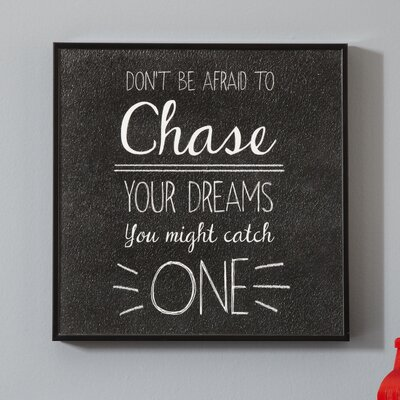Chase Your Dreams Wall Art