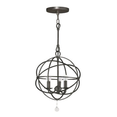 3-Light Globe Pendant Finish: Bronze