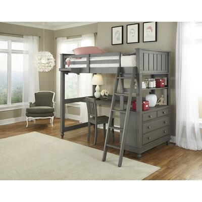Hatcher Loft Bed Size: Twin, Finish: White