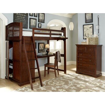 Ayalisse Loft Bed Color: Chestnut
