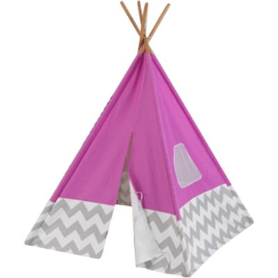 Chevron Teepee Color: Pink/Gray