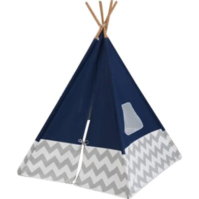Chevron Teepee Color: Navy/Gray