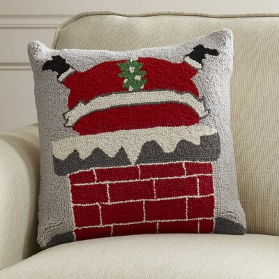 Newlin Santa's Bad Day Hook Wool Throw Pillow