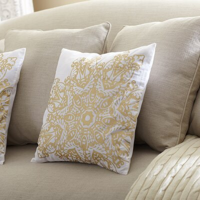 Winter Snowflake Pillow Cover Color: Gold