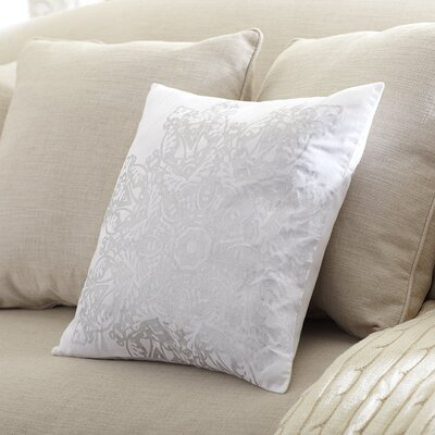 Winter Snowflake Pillow Cover Color: Silver