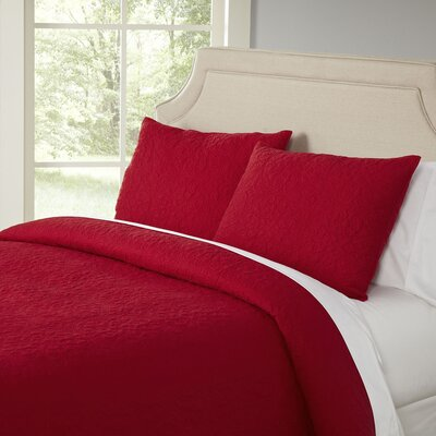 Curlicue Red Quilt Set
