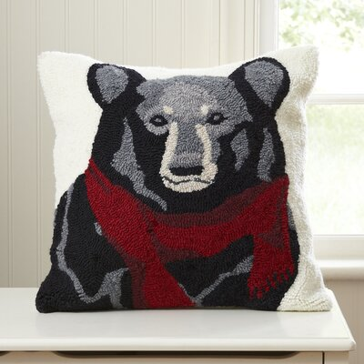 Benjamin Bear Hooked Pillow Cover