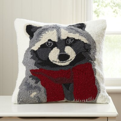 Roberto Raccoon Hooked Pillow