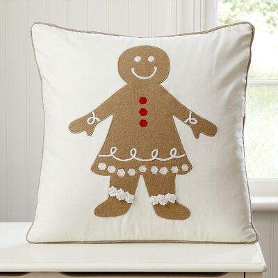 Gingerbread Girl Pillow Cover