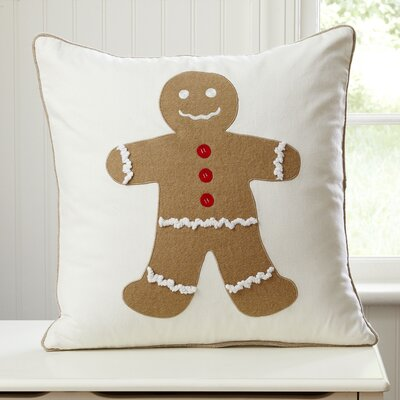 Gingerbread Boy Pillow Cover