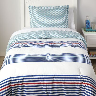 The Deep End Reversible Comforter Set Size: Full