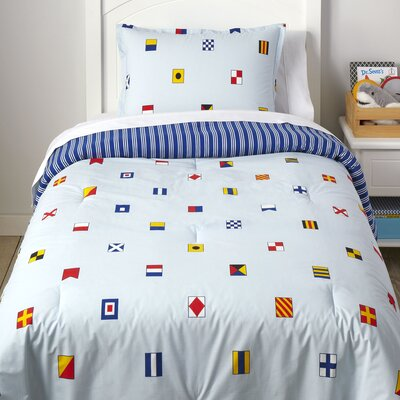 Capture the Flag Reversible Comforter Set Size: Twin