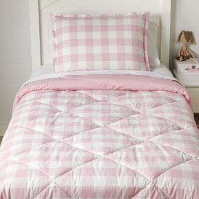 Ch-Check it Out Blush Reversible Comforter Set Size: Full