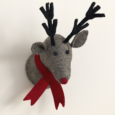 Fuzzy Reindeer Trophy Decor