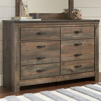 Armstrong 8 Drawer Double Dresser with Mirror
