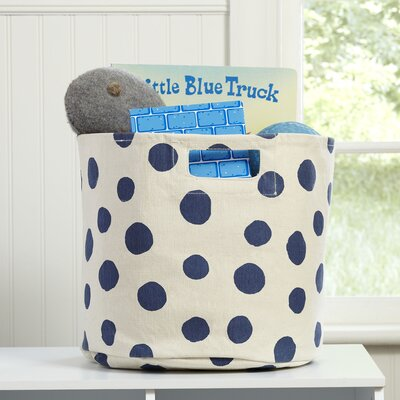 Dotty Canvas Bin Color: Indigo