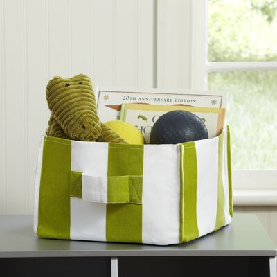 Square Storage Bin Color: Green, Size: 12'' H x 12