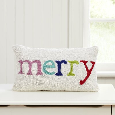 Merry & White Hooked Lumbar Pillow