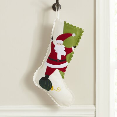 Birch Lane Kids Silly Santa Felt Stocking