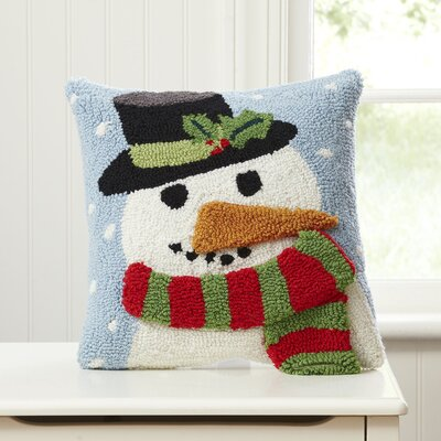 Snowman Huggable Hooked Pillow