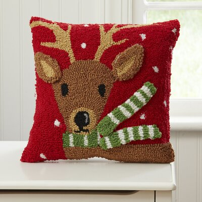 Reindeer Huggable Hooked Pillow
