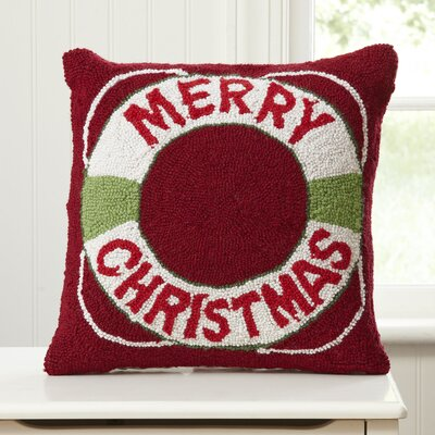 Holiday Lifesaver Hooked Pillow