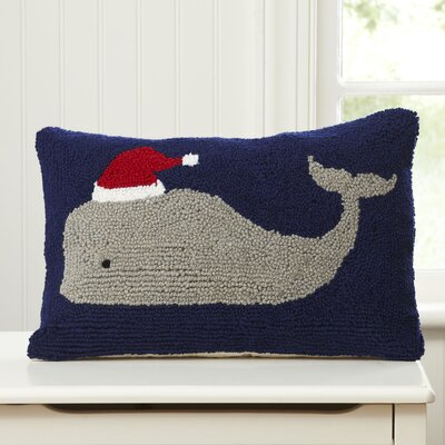 Moby St. Nick Hooked Pillow