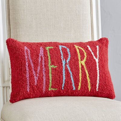 Birch Lane Kids™ Merry in Berry Hooked Lumbar Pillow