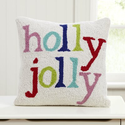 Holly Jolly Hooked Pillow