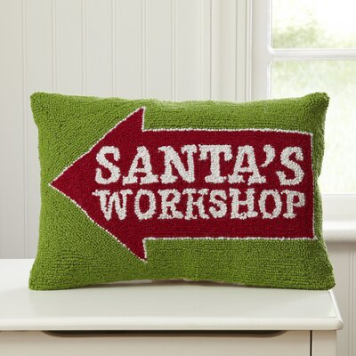 Santas Workshop Hooked Lumbar Pillow