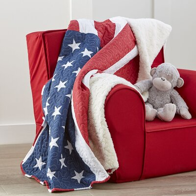 Grand Old Flag Quilted Throw