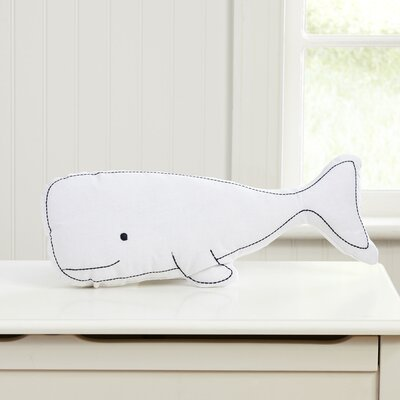 Swell Whale Pillow Color: White