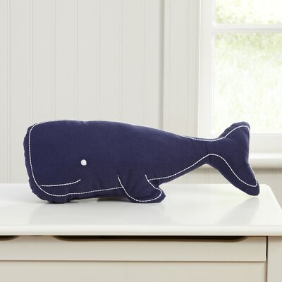 Swell Whale Pillow Color: Navy
