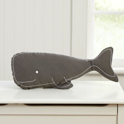 Swell Whale Pillow Color: Gray