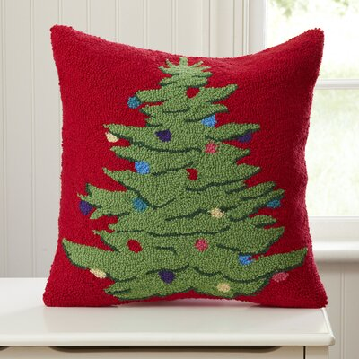 Ornamental Tree Hooked Throw Pillow
